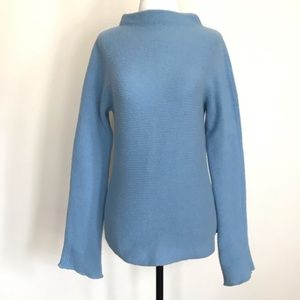 Wool blue boatneck sweater